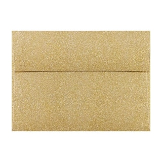 LUX A7 Invitation Envelopes (A7) - Gold Sparkle - Pack of 50 (2445173)
