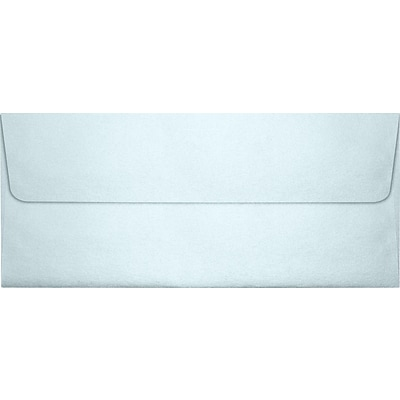 LUX® 80lbs. 4 1/8 x 9 1/2 #10 Square Flap Envelopes, Aquamarine Metallic, 1000/BX