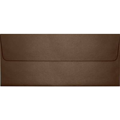 LUX® 4 1/8 x 9 1/2 #10 80lbs. Square Flap Envelopes, Bronze Metallic, 50/Pack
