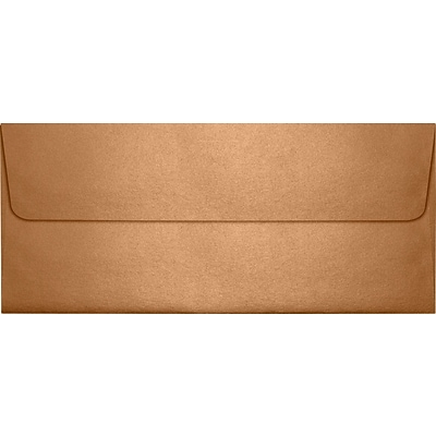 LUX® 80lbs. 4 1/8 x 9 1/2 #10 Square Flap Envelopes, Copper Metallic, 1000/BX