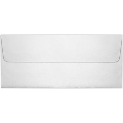 LUX® 4 1/8 x 9 1/2 #10 80lbs. Square Flap Envelopes, Crystal Metallic, 50/Pack