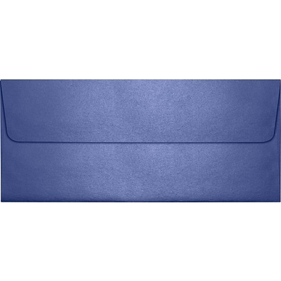 LUX® 80lbs. 4 1/8 x 9 1/2 #10 Square Flap Envelopes, Sapphire Metallic Blue, 1000/BX
