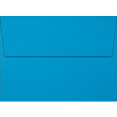 LUX® 80lbs. 5 1/4 x 7 1/4 A7 Invitation Envelopes W/Peel & Press, Pool Blue, 1000/BX