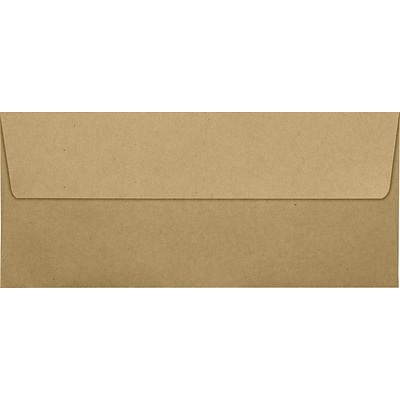 LUX® 70lb 4 1/8x9 1/2 Square Flap #10 Envelopes, Grocery Bag Brown, 500/BX
