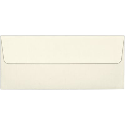LUX® 70lbs. 4 1/8 x 9 1/2 #10 Square Flap Envelopes, Natural Linen, 250/BX