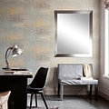 American Value Steel Chic Vanity Wall Mirror; 33.5 H x 30 W x 0.75 D