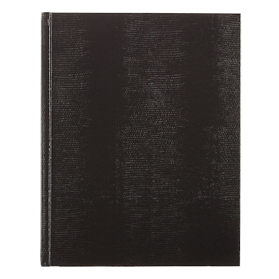 "Blueline®Executive Business Journal/Notebook, Professional Black Lizard Look Hardbound Cover, 150 Pages/75 Sheets, 11"" x 8-1/2"""