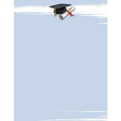 Great Papers® Graduation Brush Letterhead, 8.5 x 11, 80/Pack (2015120)
