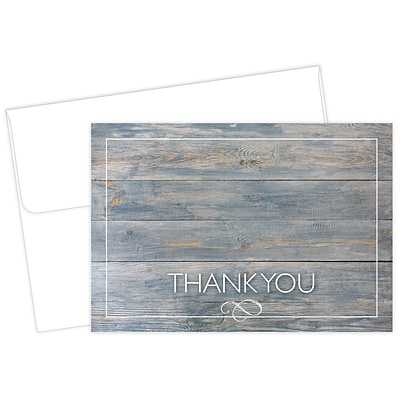 Great Papers® Driftwood Thank You Card, 4.875 x 3.375, 50/Pack (2015122)