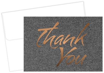 "Great Papers® Suit Thank You Card, 4.875"" x 3.375"", 50/Pack (2015124)"