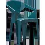 MiEN Stacking Chair; Teal Blue