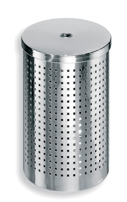 WS Bath Collections Complements Waste Basket; Stainless