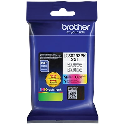 Brother LC 30293 Color Combination Ink Cartridge, Extra High Yield (LC30293PKS)