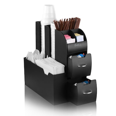 Quill Brand® All-In-One Coffee Station Organizer; Black