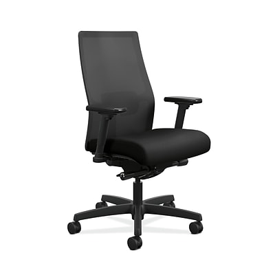 HON Ignition 2.0 ilira-Stretch Mesh Back Task Chair, Black, Adjustable Arms