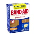 Johnson & Johnson Band-Aid Brand Adhesive Bandages Family Pack, 170 Count