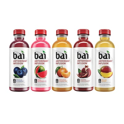 Bai Water Sunset Variety Pack, 18 fl oz, 15 Count