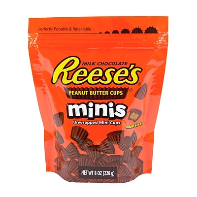 Reeses Peanut Butter Cups Minis,8 oz, 4 Count