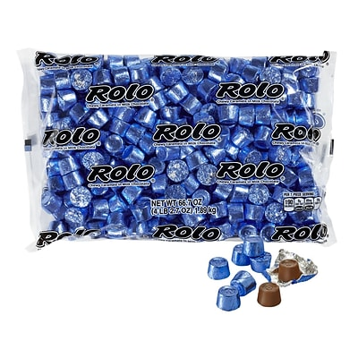 Rolo Chewy Caramels in Milk Chocolate, Blue, 66.7 oz