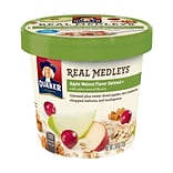 Quaker Oatmeal Real Medleys Cups Apple Walnut, 2.64 oz, 12 Count