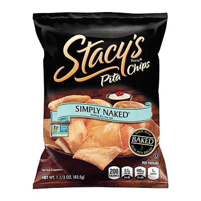 Stacys Pita Chips Simply Naked, 1.5 oz, 24 Count