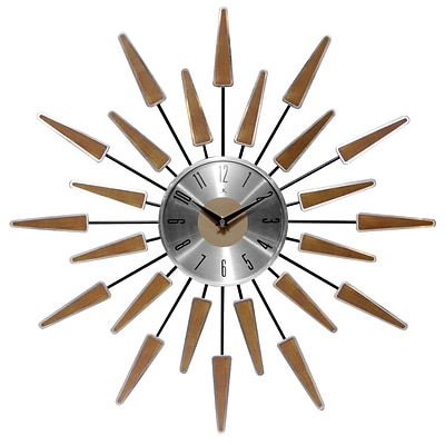 Infinity Instruments 23 Wall Clock, Satellite (15196WL-4127)