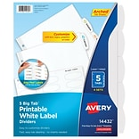 Big Tab™ Printable White Label Tab Dividers with Easy Peel®