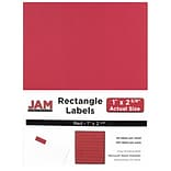 JAM Paper® Mailing Address Labels, 1 x 2 5/8, AstroBrights® Red, 120/pack (4514939)
