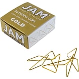 JAM Paper® Butterfly Paper Clips, Gold Paperclips, 15/pack (2210016346)