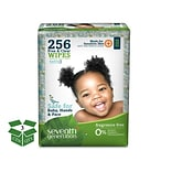 Seventh Generation™ Free & Clear Baby Wipes, 256 Wipes/Pack, 3 Packs/Carton (34219)