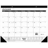 2018 AT-A-GLANCE® Monthly Desk Pad Calendar, January 2018-December 2018, 22x17 (SK24-00-18)