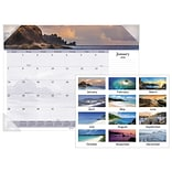 2018 AT-A-GLANCE® Images of the Sea Panoramic Desk Pad, 12 Months, January Start, 22 x 17 (DMD141-