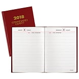 2018 AT-A-GLANCE® Standard Daily Diary, 5-1/8x7-1/2, Red (SD387-13-18)
