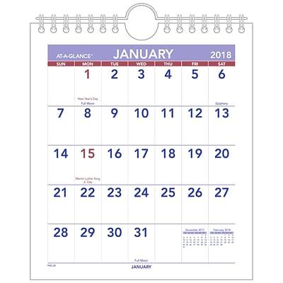 at a glance 2018 calendar