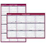 2018 AT-A-GLANCE® Wall Calendar, Reversible Vertical / Horizontal, Erasable, Jan 2018 - Dec 2018, 36