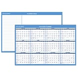 2018 AT-A-GLANCE® Horizontal Wall Calendar, Reversible for Planning Space, Erasable, 36x24 (PM200-