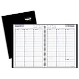 2018 AT-A-GLANCE® DayMinder® Weekly Appointment Book/Planner, 8x10 7/8, Black Hard Cover (G520H-00