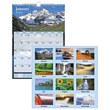 2018 AT-A-GLANCE® Scenic Wall Calendar, 12 Months, January Start, 12x17, White (DMW200-28-18)