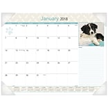 2018 AT-A-GLANCE® Puppies Desk Pad, 12 Months, January Start, 22 x 17 (DMD166-32-18)