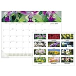 2018 AT-A-GLANCE® Floral Panoramic Monthly Desk Pad, 12 Months, January Start, 22 x 17 (89805-18)
