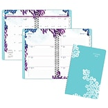2018 AT-A-GLANCE® Wild Washes Weekly/Monthly Appointment Book/Planner, 5-1/2x8-1/2, Light Blue (52