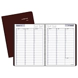 2018 AT-A-GLANCE® DayMinder® Weekly Appointment Book/Planner, 8x11, Burgundy (G520-14-18)