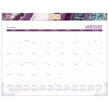 2018 AT-A-GLANCE® Agate Monthly Desk Pad, 12 Months, January Start, 22 x 17 (D1053-704-18)