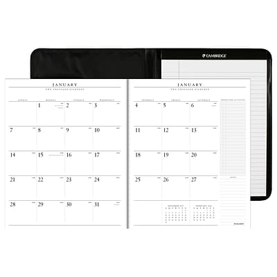 2018 AT-A-GLANCE® Executive Monthly Padfolio, 13 Months, 9 x 11, Black (70-290-05-18)