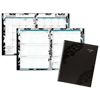 2018 AT-A-GLANCE® Madrid Weekly/Monthly Appointment Book/Planner, 13 Months, 8 1/2x11, Black (793-