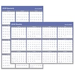 2018 AT-A-GLANCE® Vertical/Horizontal Erasable Yearly Wall Calendar, Reversible, 48x32, Blue (A115