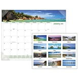 2018 AT-A-GLANCE® Seascape Panoramic Monthly Desk Pad, 12 Months, January Start, 22x17 (89803-18)