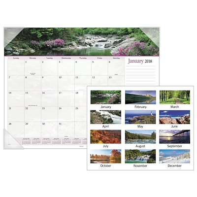 2018 AT-A-GLANCE® Landscape Panoramic Monthly Desk Pad, 12 Months, January Start, 22 x 17 (89802-18)
