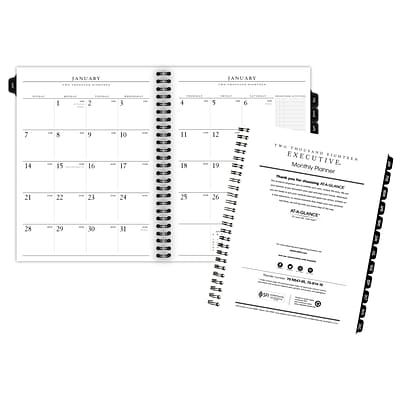 2018 AT-A-GLANCE® Executive Monthly Planner Refill, 12 Months, January Start, 6-5/8 x 8-3/4 (70-914-10-18)