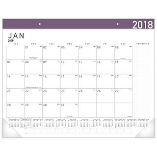 2018 AT-A-GLANCE® Contemporary Monthly Desk Pad, 12 Months, January Start, 22x17 (SK24XF-59-18)